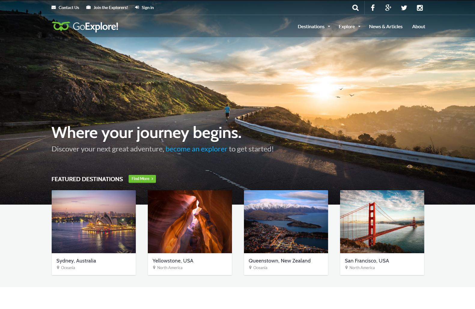 GoExplore Travel WordPress Theme