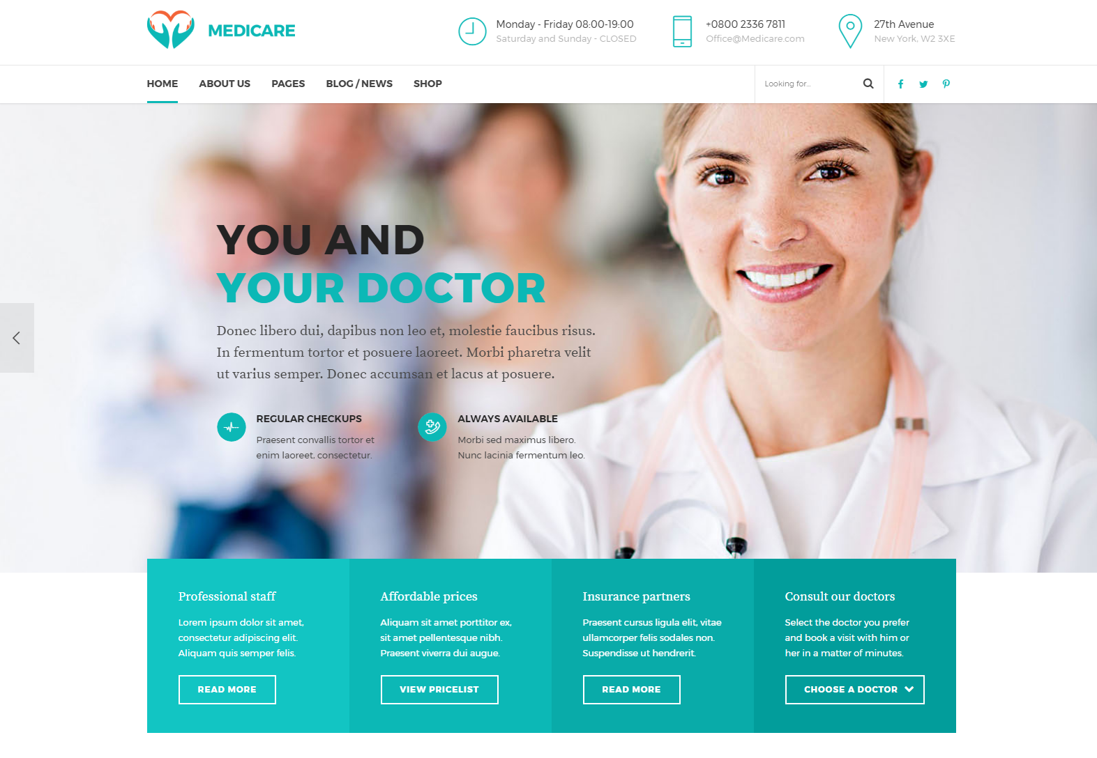 MediCare - Medical and Health WordPress Theme