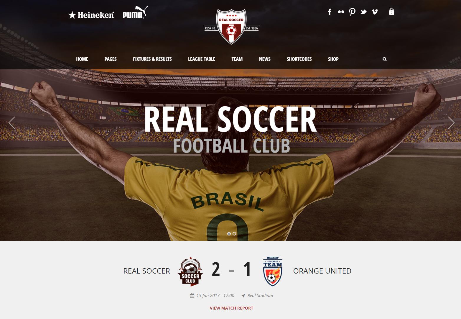 Real Soccer - Soccer, Football Magazine WordPress Theme