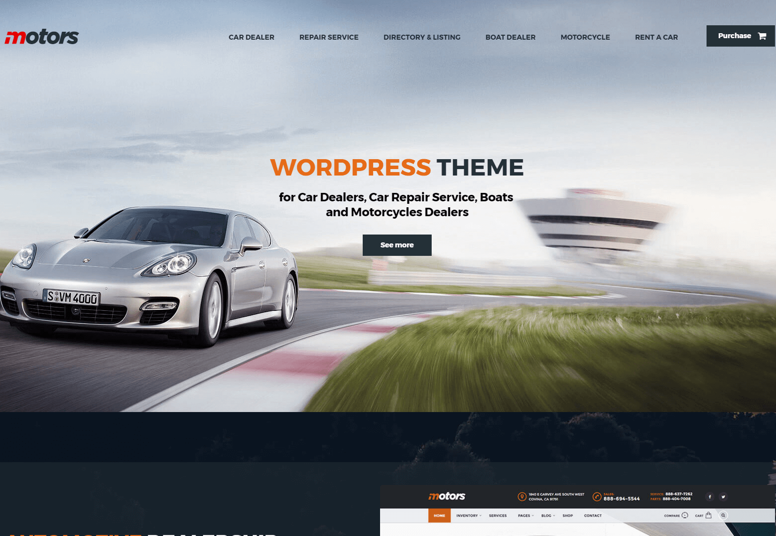 Motors - Responsive Vehicle Classified Theme