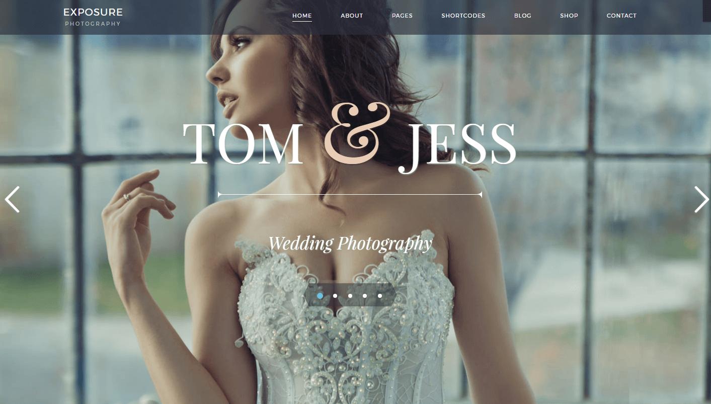 Wedding Shoot WordPress Theme