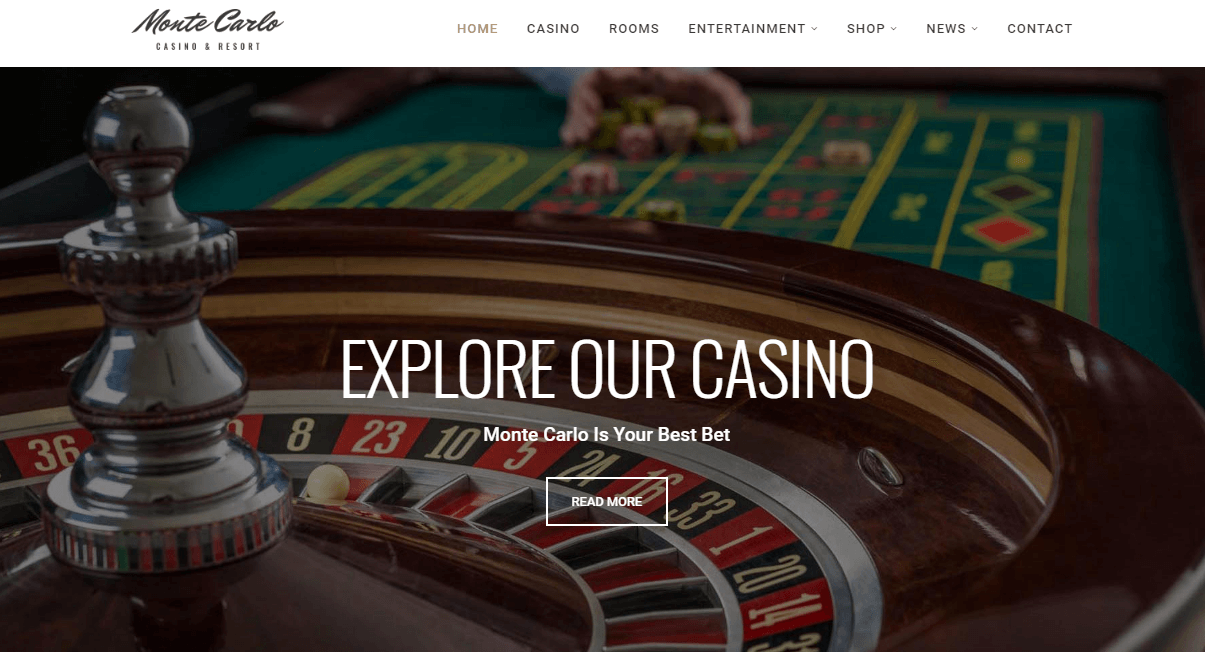 Monte Carlo Casino WordPress Theme