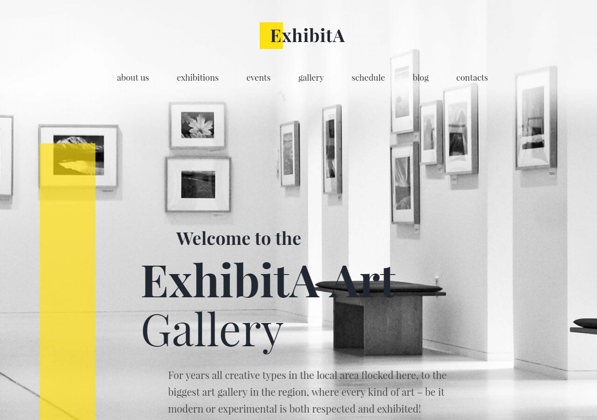 Scenic Art Gallery WordPress Theme