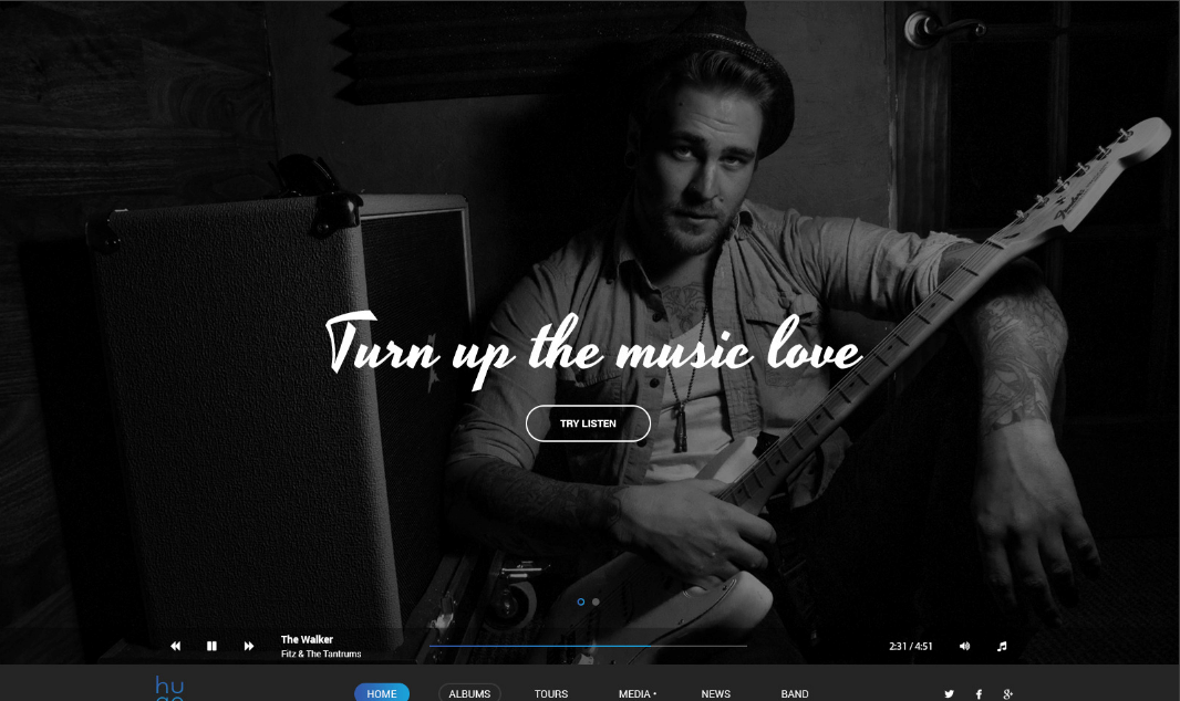 Classic WordPress Theme For Music Artists, Bands & Singers